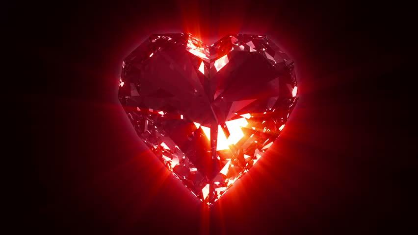Valentine's Day. Beautiful Valentine Scene With Red Hearts