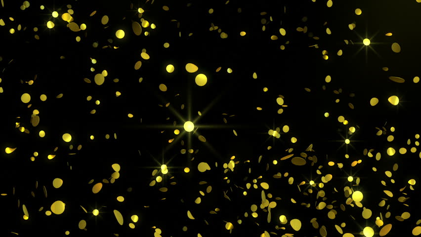 Golden Confetti - Glamorous Video Background Loop /// Golden ...