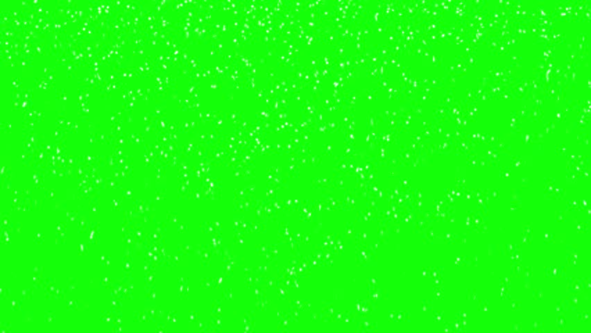 3d rendered animation of falling snow on green screen