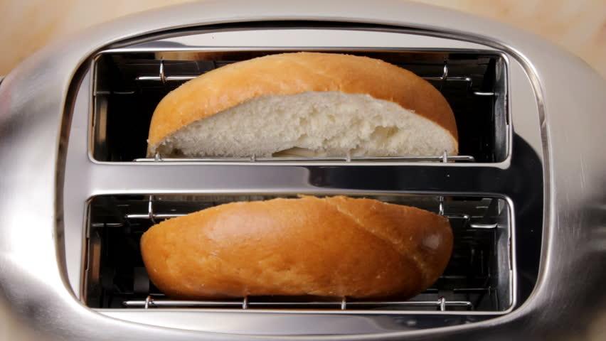 Bagel in toaster