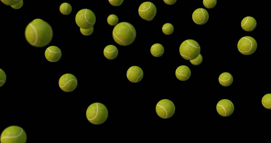 tennis balls falling