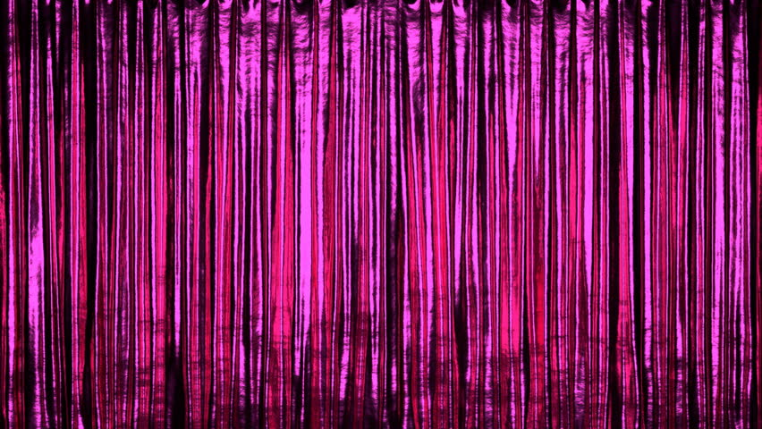 Fancy stage or window red curtain 3D animation, alpha matte is included