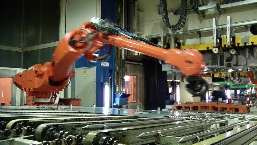 Automobile factory. Car production.