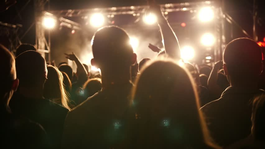 Young people at the rep rock concert, slow-motion | Shutterstock HD Video #33631345