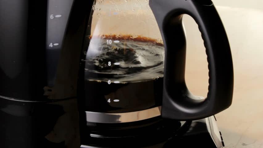 Coffee maker brewing coffee