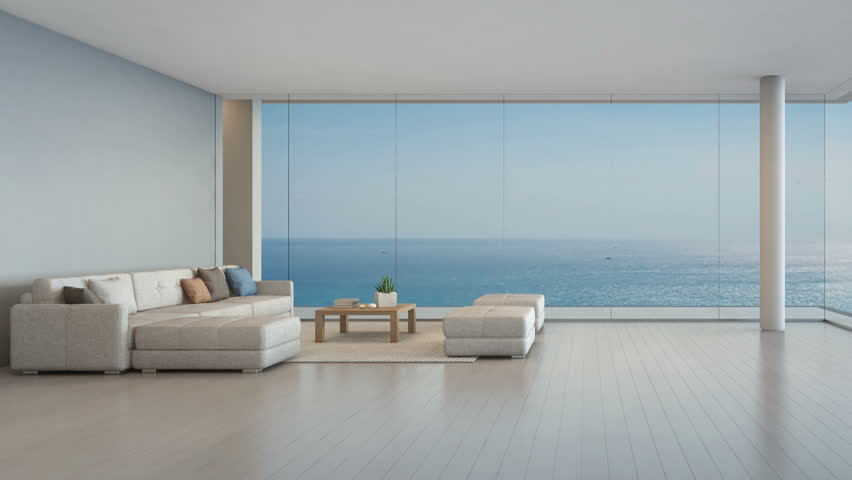Room Hotel With Glass Sea