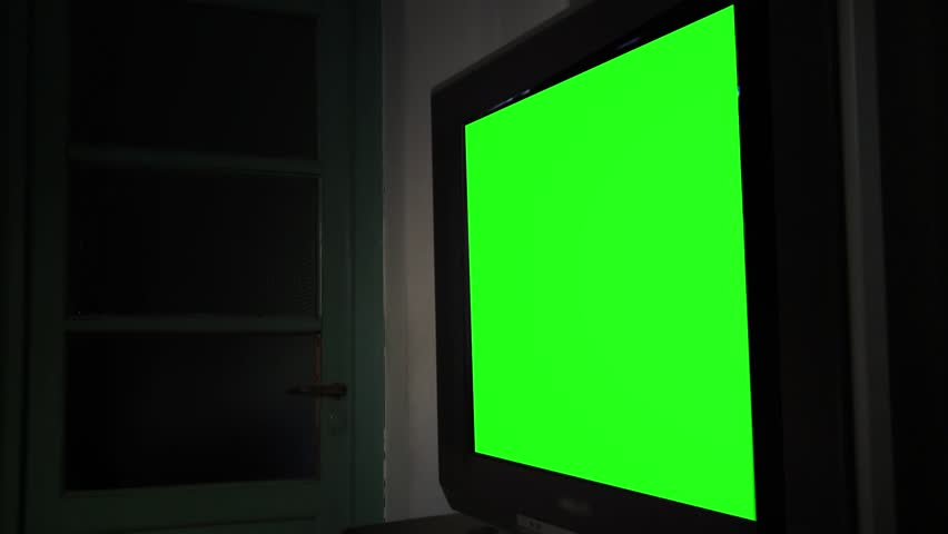 """Tv Green Screen. Ready to replace green screen with any footage or picture you want. You can do it with """"Keying"""" (Chroma Key) effect in Adobe After Effects or other video editing software."""