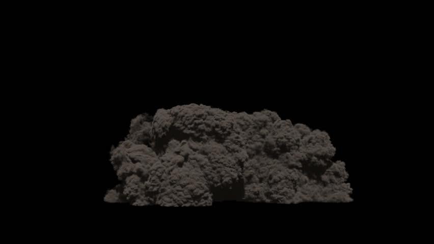 animation large fire blasts black background alpha channel