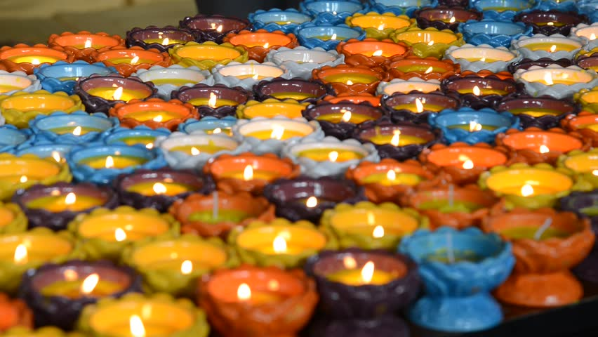 colorful pray candles