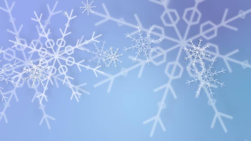 Falling snowflakes animated background