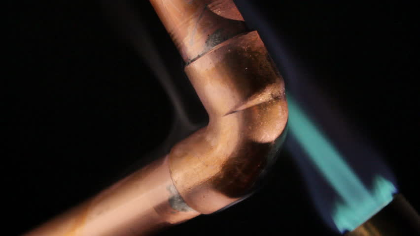 Soldering copper water pipes