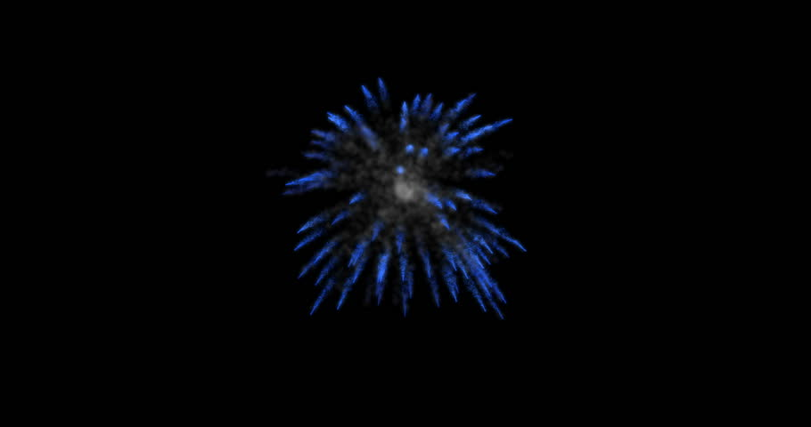 animation modern fireworks background. Footage design for Happy New Year, 4th of july, independence day, victory day or other anniversary days. with alpha matte