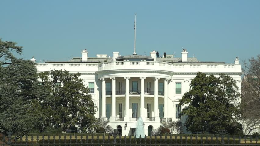 White House in Washington DC sunny day