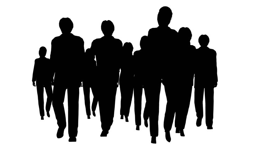Business People Silhouette Stock Footage Video - Shutterstock