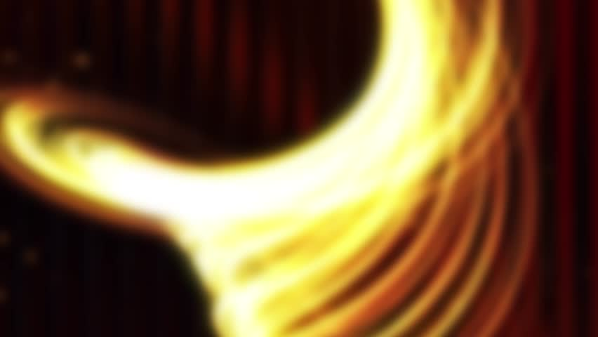 Animated golden light streaks for background - light animation