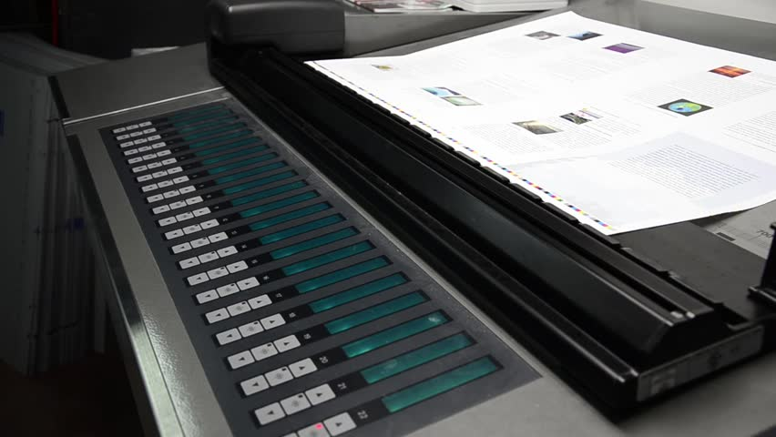 spectrophotometer on offset machine for automatic color management control and