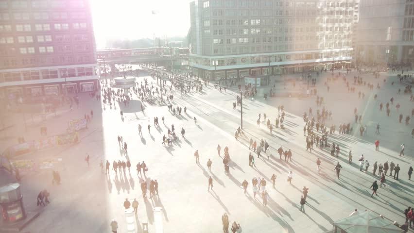 people walking on street HD   Shutterstock Video #3497927