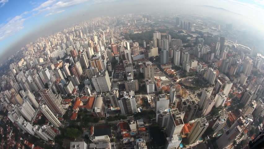 Aerial view from big city...