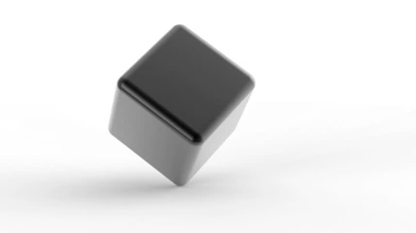 Abstract metal cube