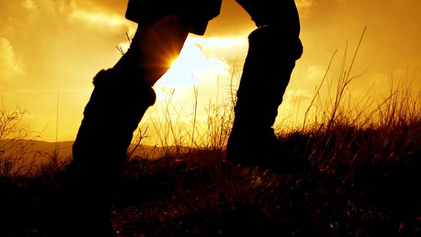 SLOW MOTION: Girl running at sunset | Shutterstock Video #3590273