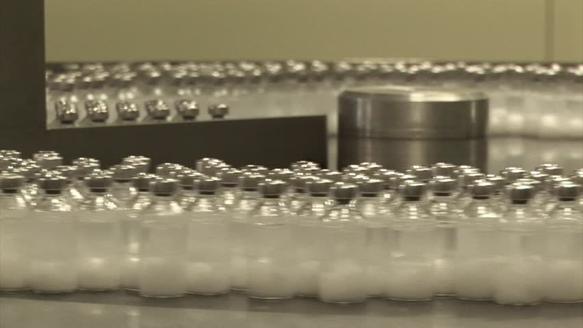 Automated production of medicines. Filling drug vials