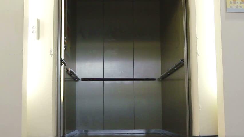 Empty elevator