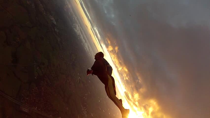 Skydive wing-suit   Shutterstock HD Video #3624551