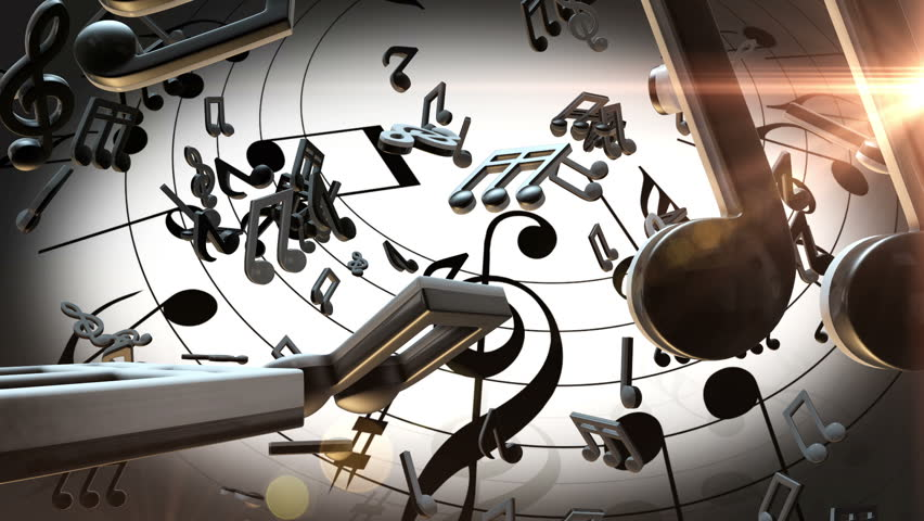 Abstract Art Music Notes Background 1 Hd Wallpapers: Music Notes Stock Footage Video