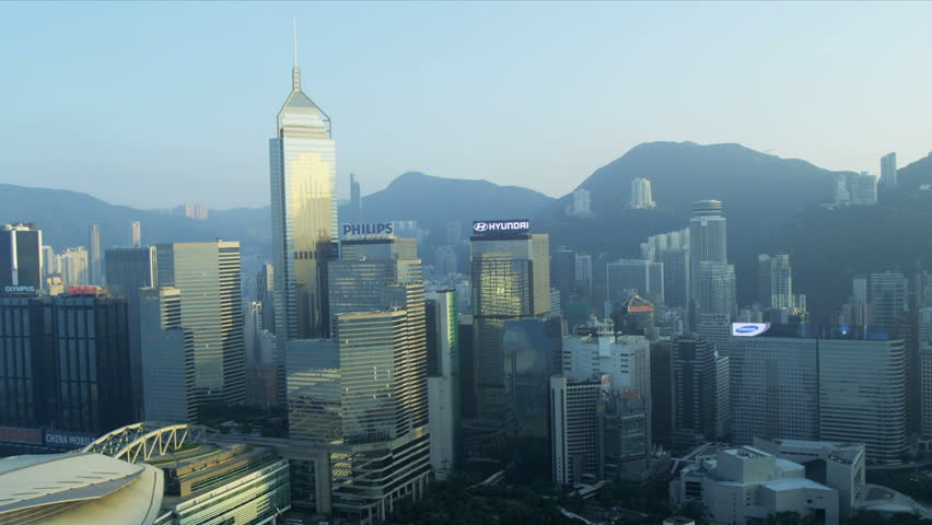 HONG KONG -  November 21, 2012: Aerial view Victoria Harbour, Hong Kong Convention and Exhibition Centre, Hong Kong, RED EPIC | Shutterstock HD Video #3746006