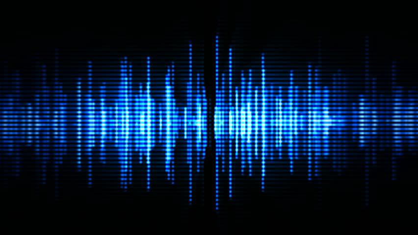 Blue high-tech waveform (seamless loop)