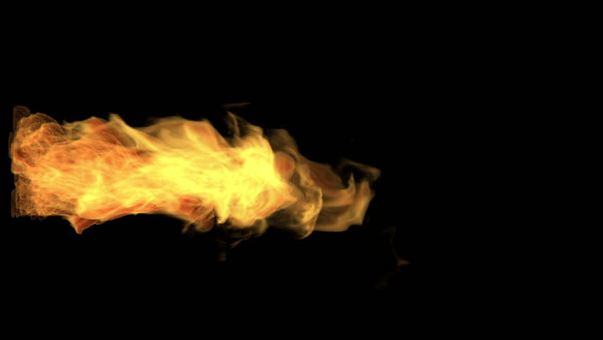 Fire thrower, flame jet isolated on black, alpha channel, hd, 1920x1080 | Shutterstock HD Video #3755747