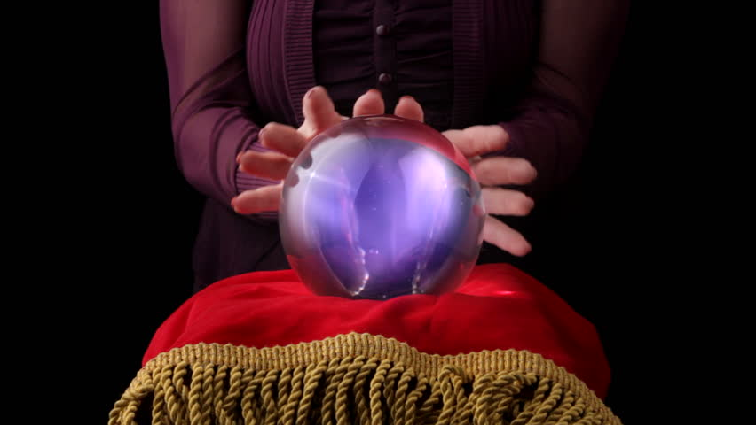 Fortune teller with crystal ball