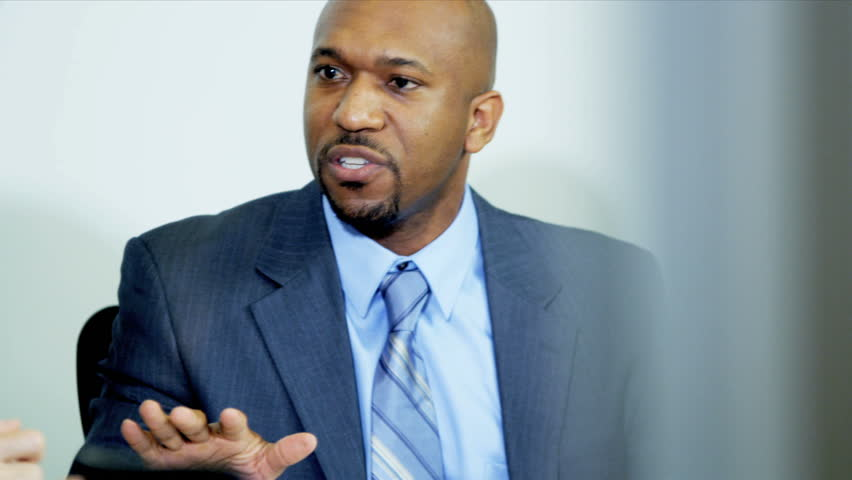 African American Financial Consultant Discussing Failures Made By