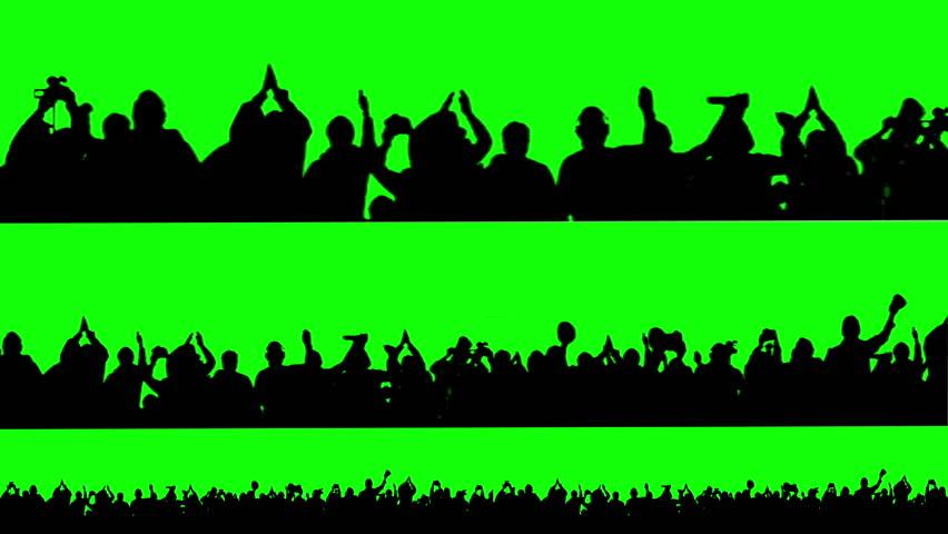 Crowd of people. Green screen. | Shutterstock Video #3774596