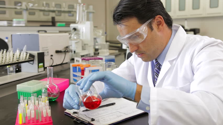 Scientist Pouring Biofuel In Lab Stock Footage Video 3942062 ...