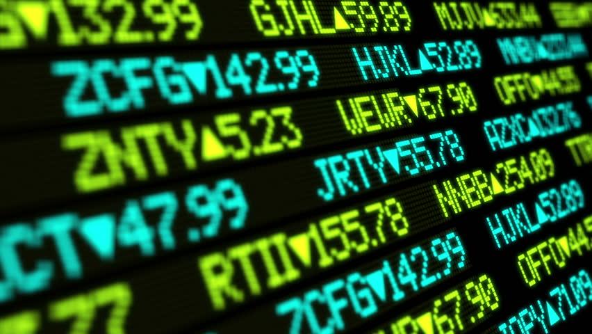 A fictional stock market ticker.  | Shutterstock HD Video #3805466