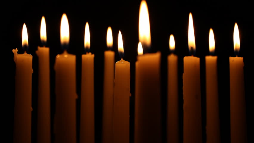 Lit Candles Stock Footage Video 894787 - Shutterstock