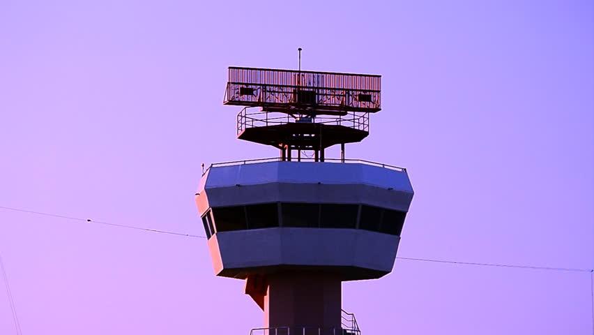radar communications tower plane