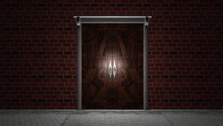 Gold Door Open To Reveal Gold Doors Open To Reveal