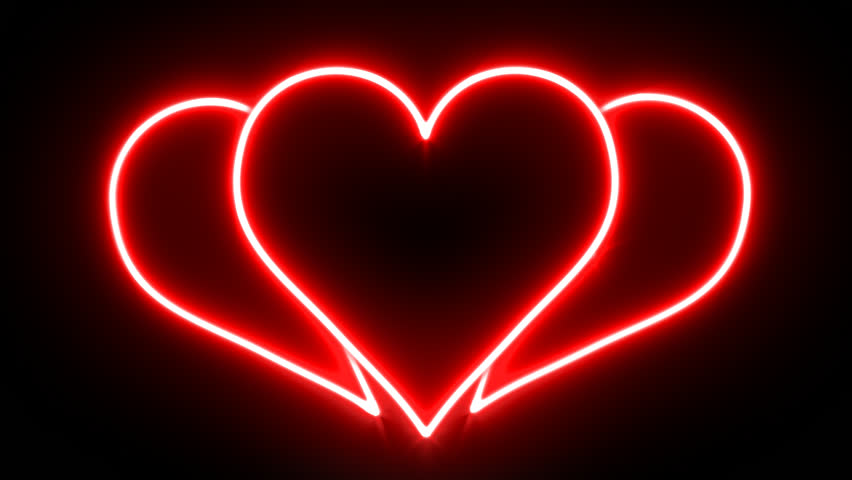 Glowing Neon Breaking Heart
