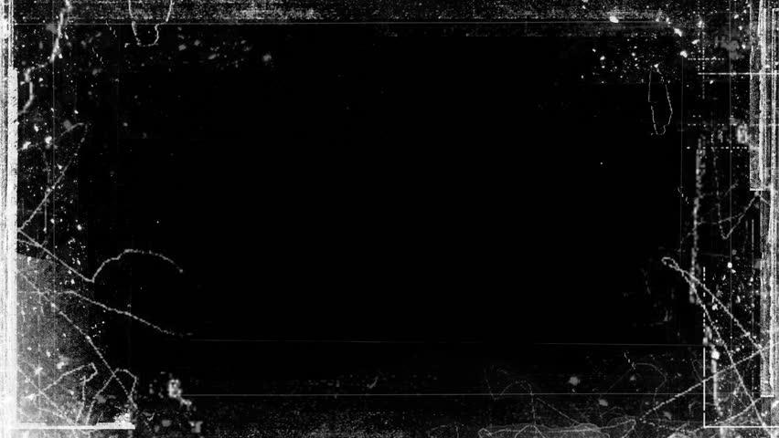 Abstract Grunge Video Frame Matte