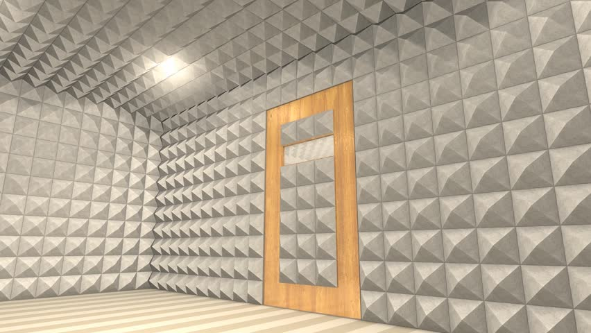 Sound proof room anechoic chamber stock footage video for Soundproofing a room for music