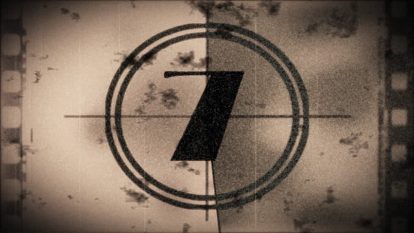Grunge countdown from 10