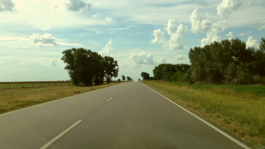 Driving a Car on a Country Road - POV - Point of view front - windshield. Day. | Shutterstock Video #3914978
