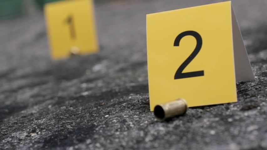 Crime scene bullet cases
