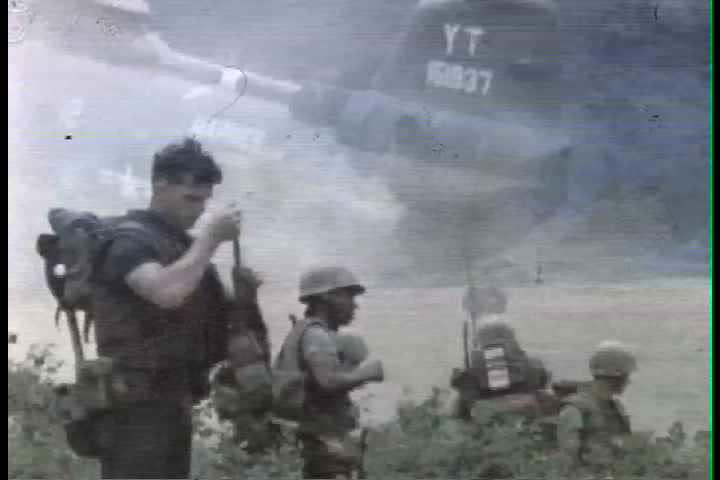 1960s - On the ground troop combat footage in Vietnam War in 1966.