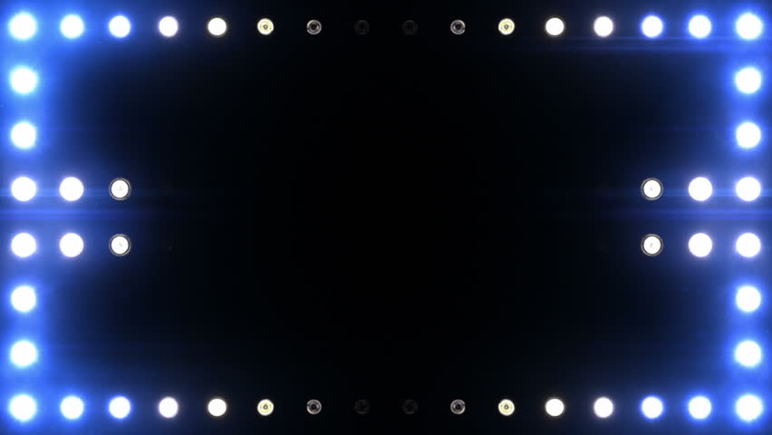 Bright floodlights turning on and off forming different shapes. Blue. SEE MORE COLOR OPTIONS IN MY PORTFOLIO.