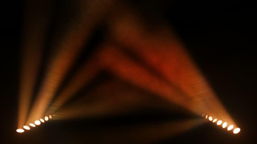 Bright stage lights flashing. Orange. SEE MORE OPTIONS IN MY PORTFOLIO. | Shutterstock Video #3954041