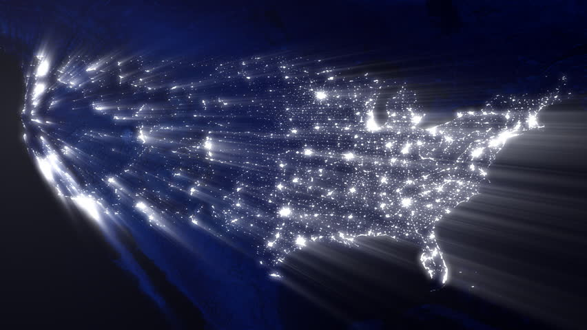 USA Map Stock Footage Video Shutterstock - Us light map