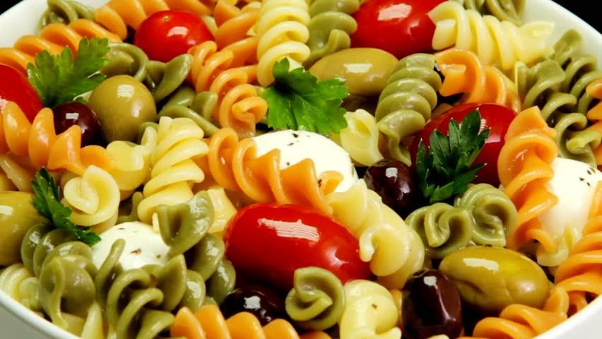 Tri color rotini salad
